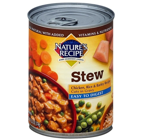 Nature's Recipe Easy to Digest Chicken Stew Wet Dog Food Case Perspective: front