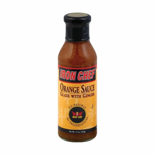 Iron Chef Sauce and Glaze - Orange Ginger - Case of 6 - 15 oz. Perspective: front