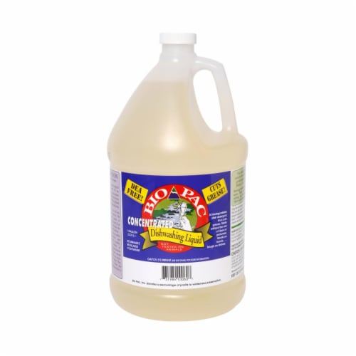 Bio-Pac Dishwashing Liquid - Concentrated - Case of 6 - 1 Gal Perspective: front