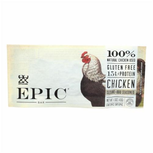 EPIC Gluten Free Sesame + BBQ Seasoned Chicken Bars Perspective: front