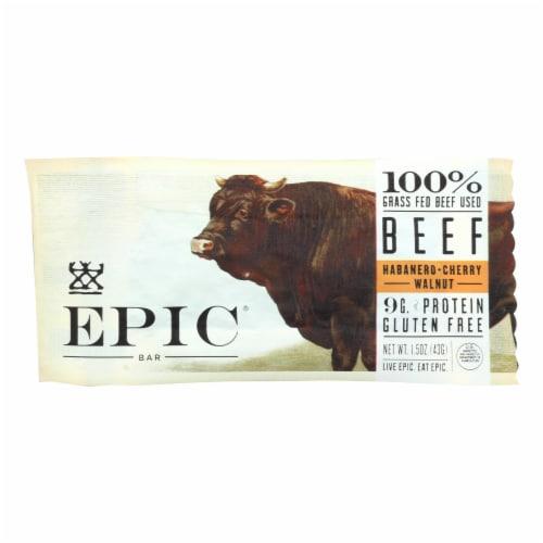Epic Bar Beef Habanero - Cherry Perspective: front