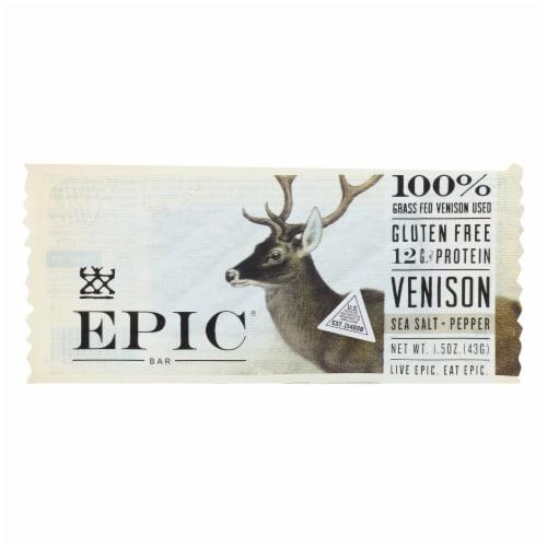 Epic - Bar - Venison - Sea Salt - Pepper - Case of 12 - 1.5 oz Perspective: front