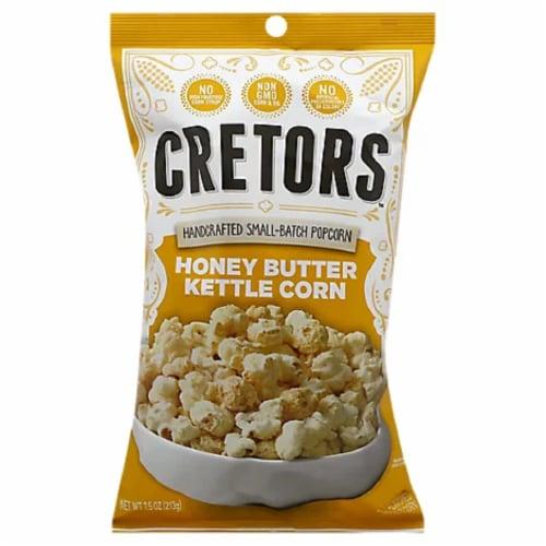 G.H Cretors Popcorn Honey Butter Kettle Corn , 7.5oz (Pack of 12) Perspective: front