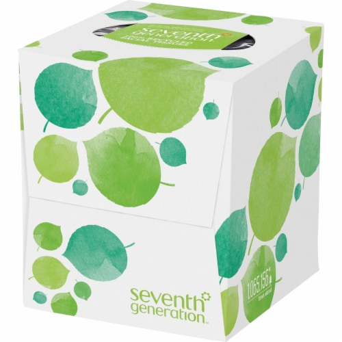 Seventh Generation Recycled Facial Tissue - Cube - Case of 36 - 85 Count Perspective: front