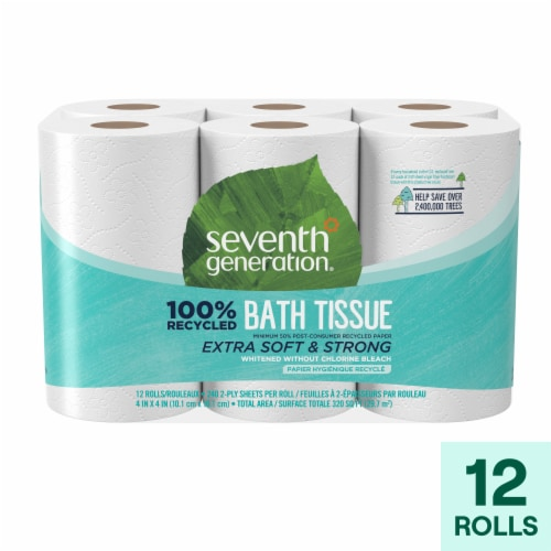 Seventh Generation Bathroom Tissue - Case of 4 - 300 Count Perspective: front