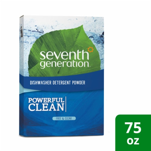 Seventh Generation Auto Dish Powder - Free and Clear - Case of 8 - 75 oz. Perspective: front