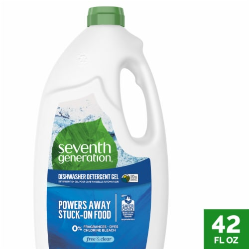 Seventh Generation Auto Dishwasher Gel - Free and Clear - Case of 6 - 42 Fl oz. Perspective: front