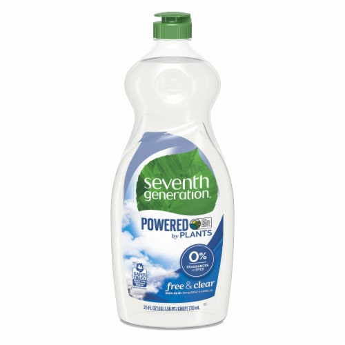 Seventh Generation Free & Clear Dish Liquid Perspective: front