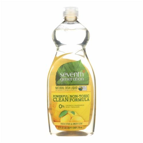 Seventh Generation Dish Liquid - Real Citrus - 25 fl oz Perspective: front