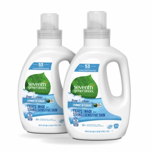Seventh Generation Free & Clear Concentrated Liquid Laundry Detergent Perspective: front