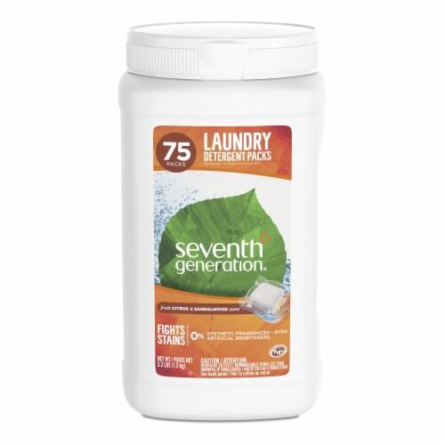 Seventh Generation Fresh Citrus & Sandalwood Scent Laundry Detergent Packs Perspective: front