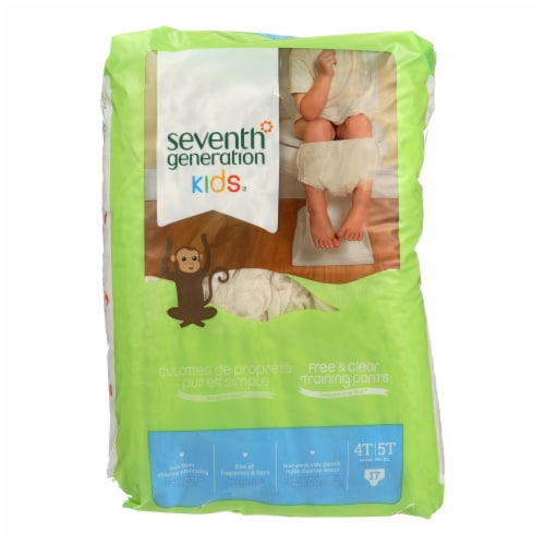Seventh Generation Free and Clear Training Pants - 4T - 5T - Case of 4 - 17 Count Perspective: front