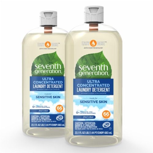 Seventh Generation EasyDose Free & Clear Ultra Concentrated Liquid Laundry Detergent Perspective: front