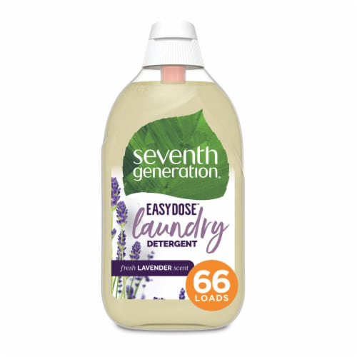 Seventh Generation EasyDose Fresh Lavender Scent Ultra Concentrated Liquid Laundry Detergent Perspective: front