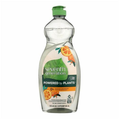 Seventh Generation - Dish Liquid Lemongrass Clementine - Case of 6-19 FZ Perspective: front