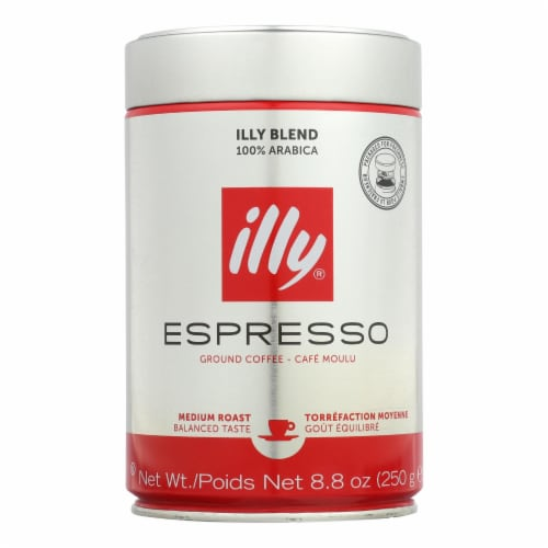 Illy Caffe Coffee Coffee - Espresso - Ground - Medium Roast - 8.8 oz - case of 6 Perspective: front