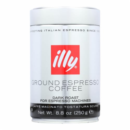 Illy Caffe Coffee Coffee - Espresso - Ground - Dark Roast - 8.8 oz - case of 6 Perspective: front