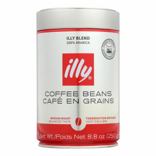 Illy Caffe Coffee Coffee - Whole Bean - Medium Roast - 8.8 oz - case of 6 Perspective: front