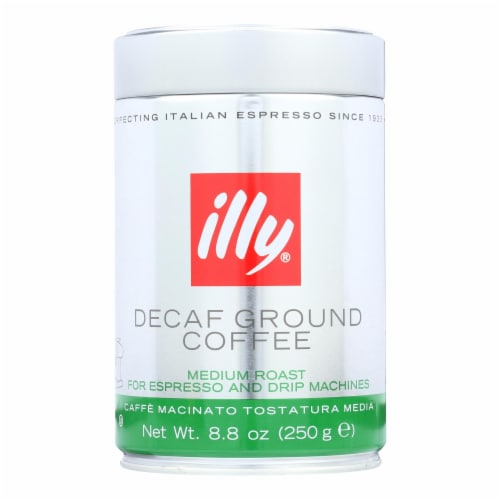 Illy Caffe Coffee Coffee Espresso and Drip Ground Medium Roast - Decaf - 8.8 oz - case of 6 Perspective: front