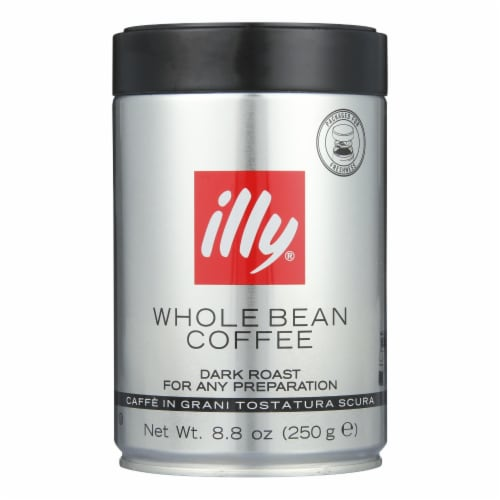 Illy Caffe Coffee Coffee - Whole Bean - Dark Roast - 8.8 oz - case of 6 Perspective: front