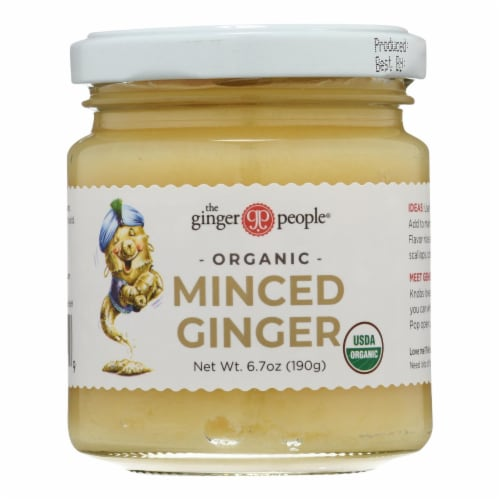 The Ginger People Organic Minced - Case of 12 - 6.7 oz. Perspective: front