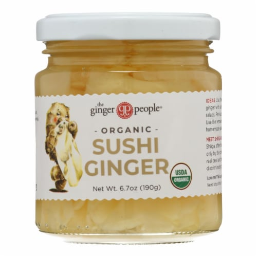 The Ginger People Organic Pickled Sushi Ginger Perspective: front