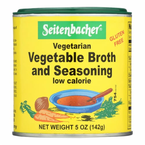 Seitenbacher Vegetarian Vegetable Broth and Seasoning - Case of 6 - 5 oz. Perspective: front