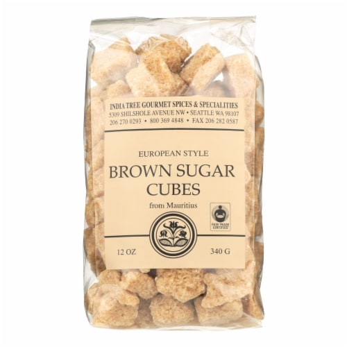 India Tree Gourmet Spices & Specialties Brown Sugar Cubes  - Case of 6 - 12 OZ Perspective: front