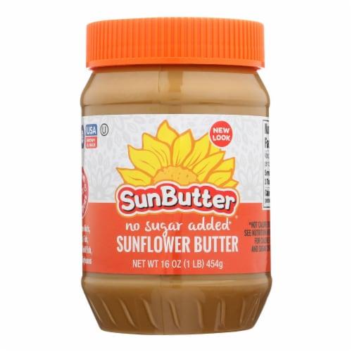 Sunbutter Sunflower Butter - No Sugar Added - Case of 6 - 16 oz. Perspective: front