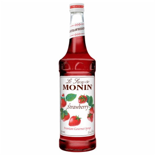 Glass Strawberry Flavor Syrup, 750 Milliliter -- 12 Case Perspective: front
