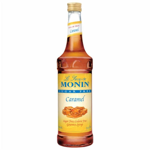 Glass Caramel Sugar Free Flavor Syrup,750 Milliliter -- 12 Case Perspective: front