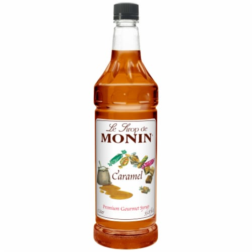 Le Sirop de Monin Caramel Flavor Syrup Perspective: front