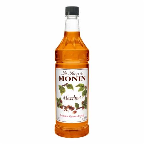 Hazelnut Flavor Syrup -- 4 Case 1 Liter Perspective: front