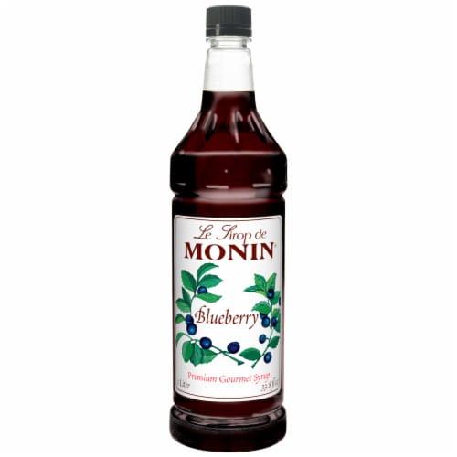 Monin Blueberry Flavor Syrup, 1 Liter -- 4 per case. Perspective: front