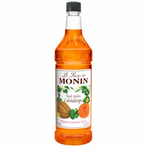 Monin Rock Melon Cantaloupe Syrup, 1 Liter -- 4 per case. Perspective: front