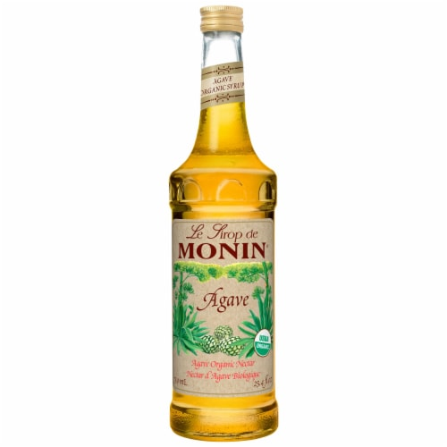Monin Organic Agave Nectar Syrup, 750 Milliliter -- 6 per case. Perspective: front