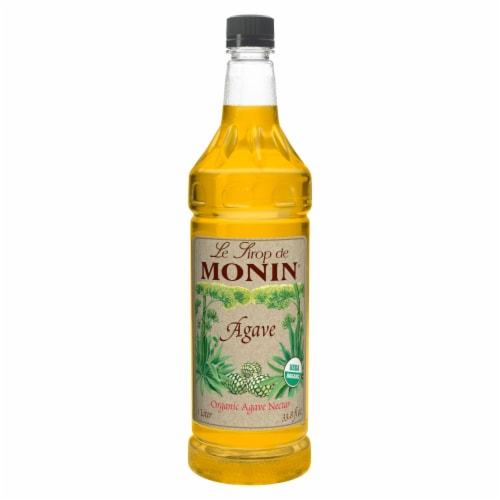 Monin Agave Nectar Syrup, 1 Liter -- 4 per case. Perspective: front