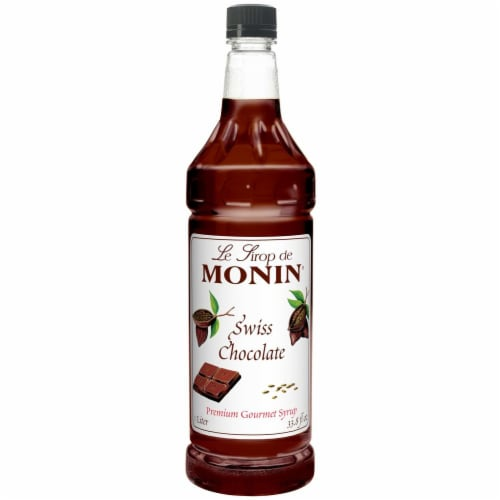 Monin Swiss Chocolate Syrup, 1 Liter -- 4 per case. Perspective: front