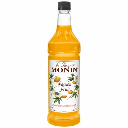Monin Passion Fruit Syrup, 1 Liter -- 4 per case. Perspective: front