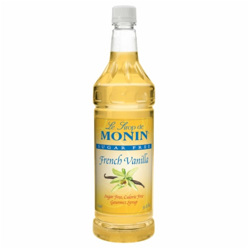 Monin French Vanilla Sugar Free Syrup, 1 Liter -- 4 per case. Perspective: front