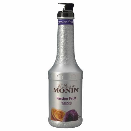 Monin Passion Fruit Puree, 1 Liter -- 4 per case. Perspective: front