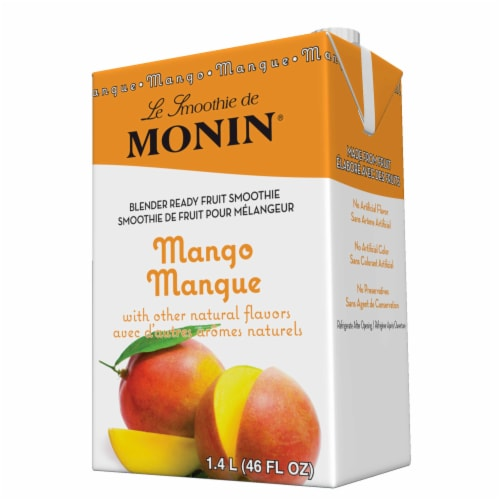 Monin Blender Ready Mango Fruit Smoothie Mix, 46 Ounce -- 6 per case. Perspective: front