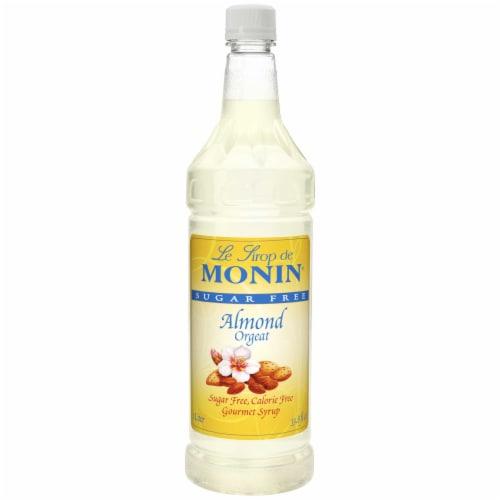 Monin Sugar Free Almond Gourmet Syrup, 1 Liter -- 4 per case. Perspective: front
