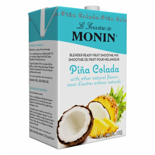 Monin Pina Colada Fruit Smoothie Mix, 46 Ounce -- 6 per case. Perspective: front