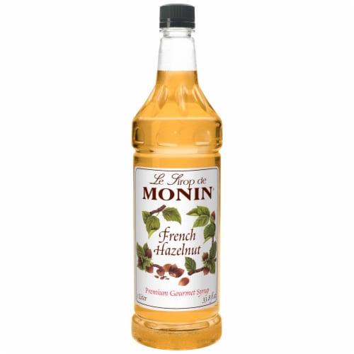 Monin French Hazelnut Premium Gourmet Syrup, 1 Liter -- 4 per case. Perspective: front