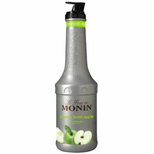 Monin Granny Smith Apple Puree, 1 Liter -- 4 per case. Perspective: front