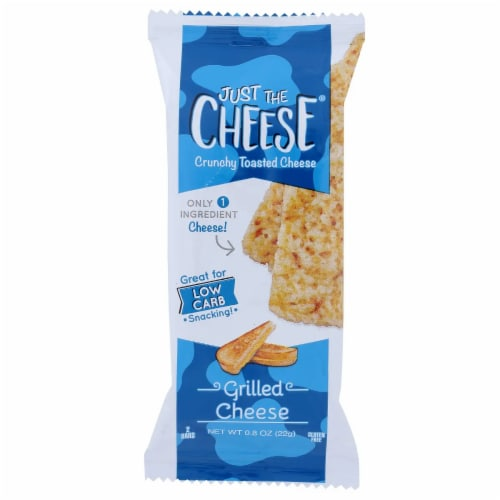 Just the Cheese Grab-N-Go Baked Cheese Bars Grilled Cheese, .08oz (Pack of 12) Perspective: front