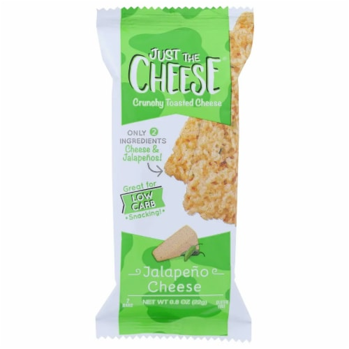 Just the Cheese Grab-N-Go Baked Cheese Bars Jalapeno Cheese, .08oz (Pack of 12) Perspective: front