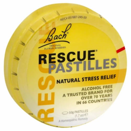 Bach Rescue Natural Stress Relief, 50 Gm Perspective: front