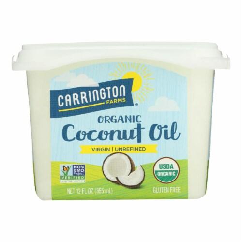 Carrington Farms Coconut Oil - Case of 6 - 12 fl oz. Perspective: front